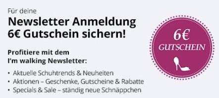 e2f43732a5 Im walking - 6 Euro Gutschein für die Newsletteranmeldung
